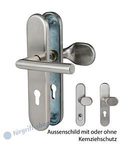 Sicura Ronny-LS/LS Schutzgarnitur ES1 Griffplatte/Drücker Edelstahl matt von Südmetall