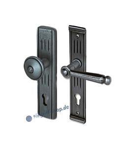 Sicura Vigaun-LS Schutzgarnitur Knopf / Drücker Stahl geschwärzt-matt von Südmetall