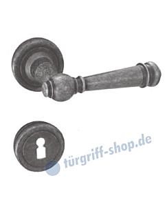 Silvretta-R Rosettengarnitur Schmiedeeisern antikfärbig beschichtet von Lienbacher