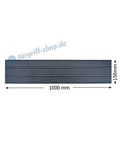 Sockelblech mit horizontalen Zierstreifen Höhe 150 mm Antik von Galbusera
