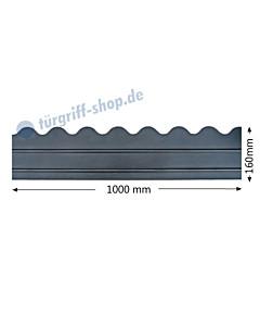 Sockelblech mit horizontalen Zierstreifen und Wellenrand Höhe 160 mm Antik von Galbusera