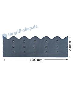 Sockelblech mit Ziernägeln und Wellenrand Höhe 200 mm Antik von Galbusera