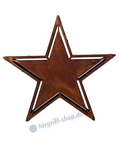 Stern Carlos in 2 Größen Eisen gerostet - Gartenambiente