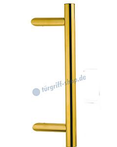 Stoßgriff Kos abgeschrägt Bohrabstand 300 mm, Ø 30 mm, Robusta Gold von Südmetall