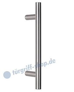 Stoßgriff T II, gerade , Ø 20 mm, in 5 Längen, Edelstahl matt V2A von Südmetall
