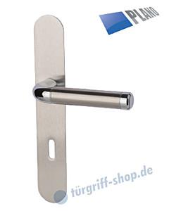 Sybille-LS Langschildgarnitur PLANO Chrom/Edelstahl-matt von Südmetall