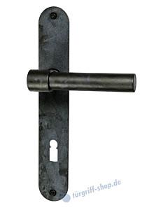 T-Bone Langschildgarnitur ovales Langschild Schwarzstahl von Halcö