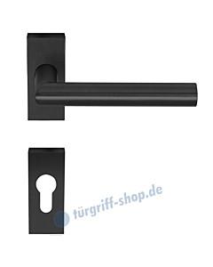 Tipo Schmalrahmen-Rosettengarnitur rechteckig, schwarz mit Feinstruktur von Artitec Wallebroek