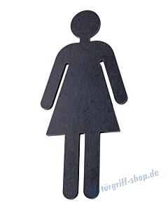 Toilettenpiktogramm Frau Schwarzstahl von Halcö