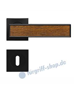 Torino R53Q quadratische Rosettengarnitur mit Inlay Kosmos schwarz von Karcher