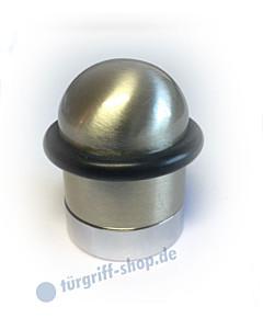 Türstopper rund 30 x 45 mm Nickel matt mit Gummiring von Edestar
