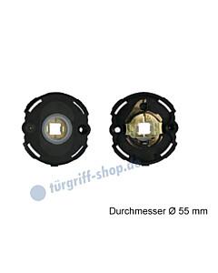 Unterkonstruktion Paar für Drückerrosetten VarioStar Basic Ø 55 mm mit Hochhaltfeder Kunststoff von Südmetall