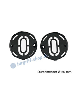 Unterkonstruktion Paar für Schlüsselrosetten VarioStar Basic Ø 50 mm Kunststoff von Südmetall