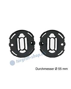 Unterkonstruktion Paar für Schlüsselrosetten VarioStar Basic Ø 55 mm Kunststoff von Südmetall