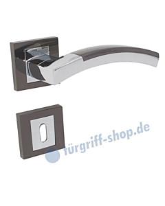 Vector Quadrat Türgriffe Rosettengarnitur Zamak verchromt / schwarz verchromt Lienbacher