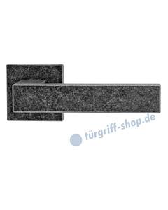 Wagrain Square quadratische Rosettengarnitur Schmiedeeisen schwarz patiniert von Griffwelt