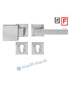 Washington ER/FS49Q Feuerschutz-Wechselgarnitur Knopf/Drücker PZ 9 mm Edelstahl matt Karcher Design - Ausführung Drücker rechts zeigend (DIN rechts)