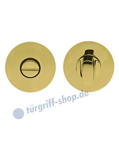 WC Rosettenpaar flächenbündig rund Ø 55mm Messing-poliert PVD Scoop