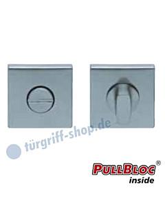 WC Rosettenpaar PullBloc quadratisch 55x55mm Edelstahl matt Scoop