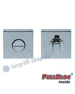 WC Rosettenpaar PullBloc quadratisch 55x55mm Edelstahl poliert Scoop