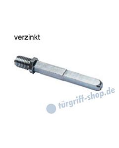 Wechsel-Vollstift mit Gewinderolle und Kerbe 8/10 x 110 mm mit Gewinderolle Südmetall