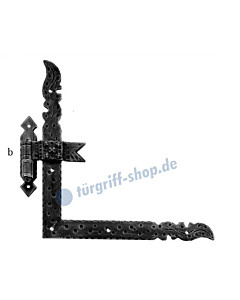 Winkelband Antik Art. 562 | 400 x 400 mm, Kegel Ø 16 mm | für Türen mit Falz | von Galbusera