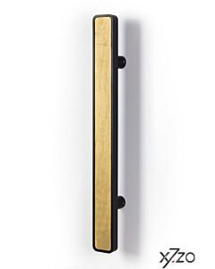 Stossgriff z25 eckig mit gerader Befestigung, Länge 490 mm, BA 300 mm, 50x20 mm, Eiche / Alu schwarz von x7zo