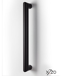 Stossgriff z31 b40 mit geraden Stützen, Durchmesser Ø 40 mm Länge 400 mm BA 360 schwarz matt von x7zo