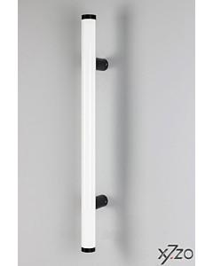 Stossgriff z5 w30 mit gerader Befestigung, Länge 500 mm, BA 300 mm, Ø 30 mm, Alu weiss / schwarz von x7zo