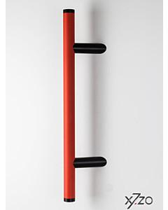 Stossgriff z6 r30 mit schräger Befestigung, Länge 500 mm, BA 300 mm, Ø 30 mm, Alu rot / schwarz  von x7zo