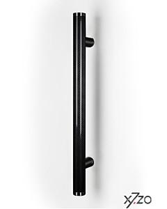 Stossgriff z7 mit gerader Befestigung, Länge 500 mm, BA 345 mm, Ø 34 mm, Carbon schwarz / Edelstahl matt von x7zo