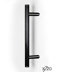 Stossgriff z8 mit schräger Befestigung, Länge 500 mm, BA 345 mm, Ø 34 mm, Carbon schwarz / Edelstahl matt von x7zo