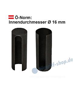 Zierhülsenpaar Innendurchmesser Ø16 mm (Ö-Norm) Schwarzstahl-Optik Südmetall