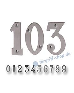 Zimmertürnummern Edelstahlfarbig von Südmetall