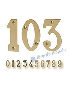 Zimmertürnummern aus Messing von Südmetall