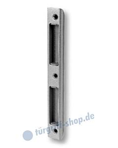 Zimmertür-Winkelschließblech abgerundet, silberfarbig lackiert von Südmetall