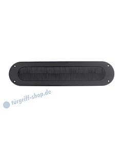 Zugklappe oval mit Bürstenleiste Edelstahl schwarz matt von Intersteel