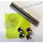 Stossgriff-Befestigung 111896 paarweise Befestigung für 2 Edelstahl-Stossgriffe von Spitzer auf Holz-, Metall- und Kunststofftür