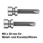 Stossgriff-Befestigung 111946 einseitig unsichtbar für Edelstahl-Stossgriff von Spitzer auf Metall- und Kunststofftür
