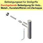 Stoßgriff-Befestestigungsset   durchgehende Befestigung an Metall/Holz/Kunststofftüren, Zierkappe Südmetall