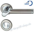 Elena-R Rosetten-Halbgarnitur MRM Comfort, GK4, 8 mm, Profilzylinder Chrom/Edelstahl-matt Südmetall