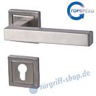 Galina II Square-R quadrat. Rosetten-Halbgarnitur für Haustüren, Top Speed, Profilzylinder, 8 mm, GK4, Edelstahl-matt Südmetall