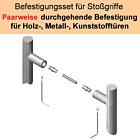Stoßgriff-Befestigungs-Set   paarweise Befestigung an Metall/Holz/Kunststofftür Südmetall