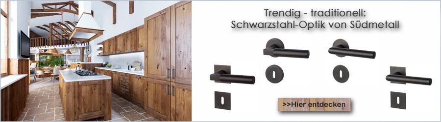 Schwarzstahl-Optik