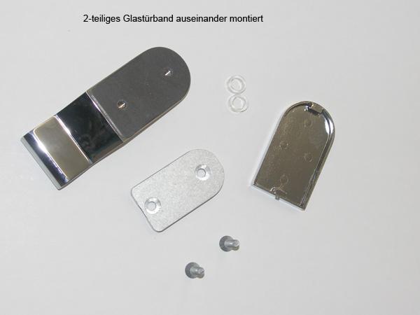 Die Einzelteile des Glastürbandes