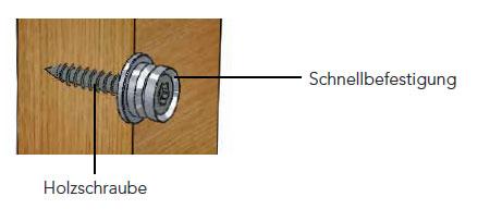 Halcö - Schiebetürgriff einseitige Montage auf Holz