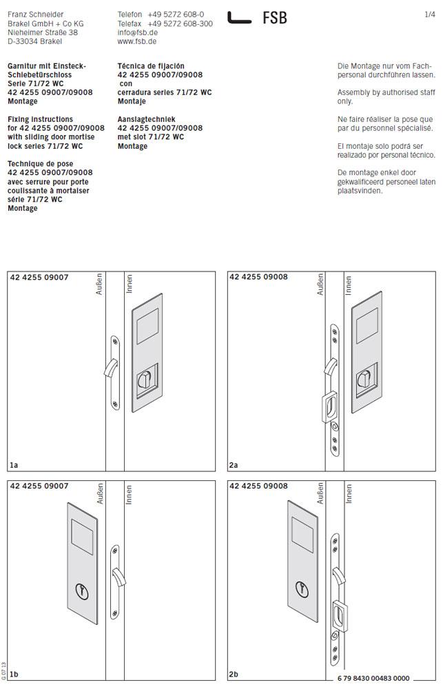 Schematische Abbildung Schiebetürmuscheln 42 4255 von FSB