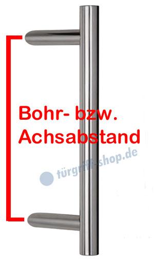 Bohrabstand / Achsabstand beim Stossgriff
