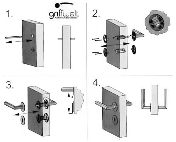 Montageschema für die Rosetten mit Magnettechnik
