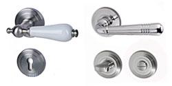 Rosetten mit Profilzylinder-Lochung und WC/Bad Verriegelung